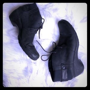 MERRELL black Veranda lace ankle boots women's 11